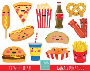 Clipart food junk food.  sale fast kawaii