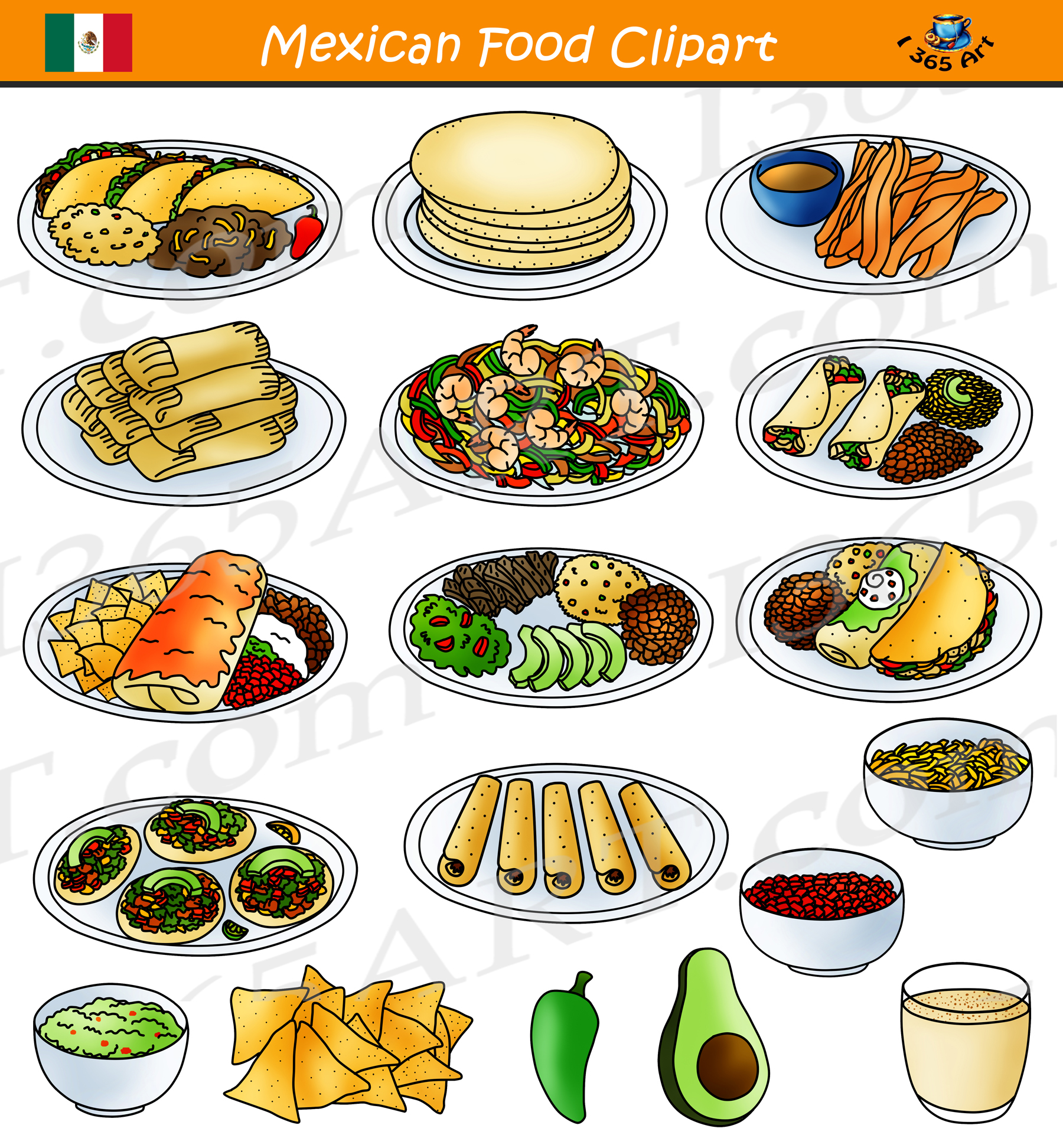 Food clipart. Mexican free download clip