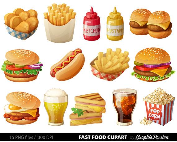 Food clipart. Fast hamburger clip art