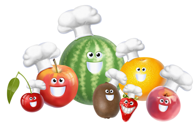 Fruits et legumes page. Food clipart baby