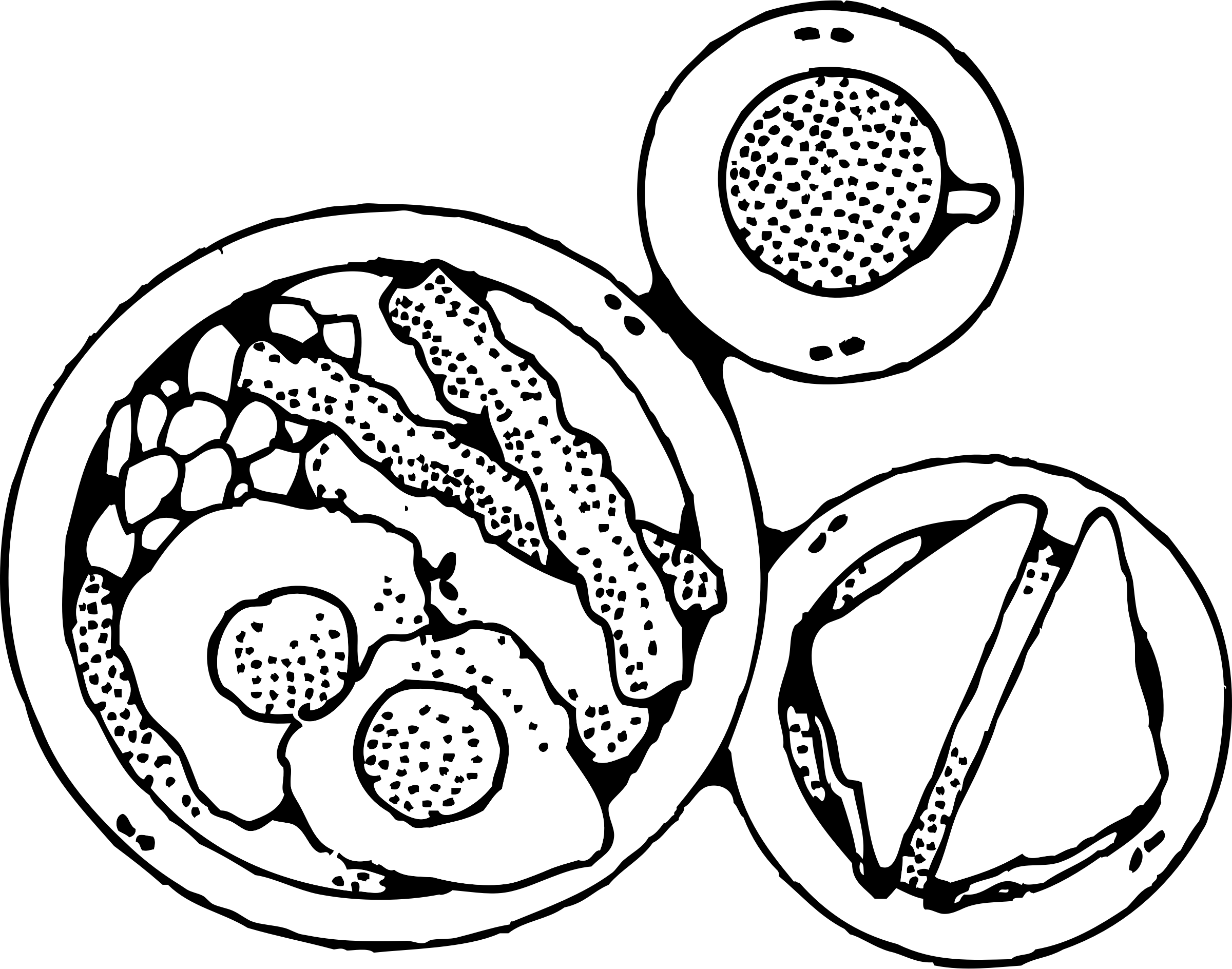 Breakfast of and eggs. Food clipart bacon