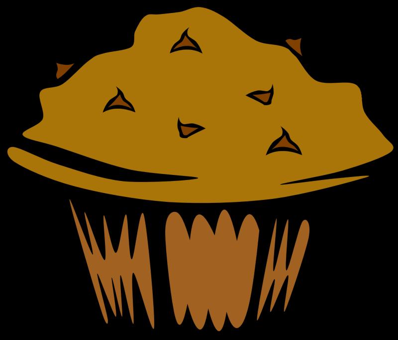 Fast muffin chocolate medium. Food clipart breakfast