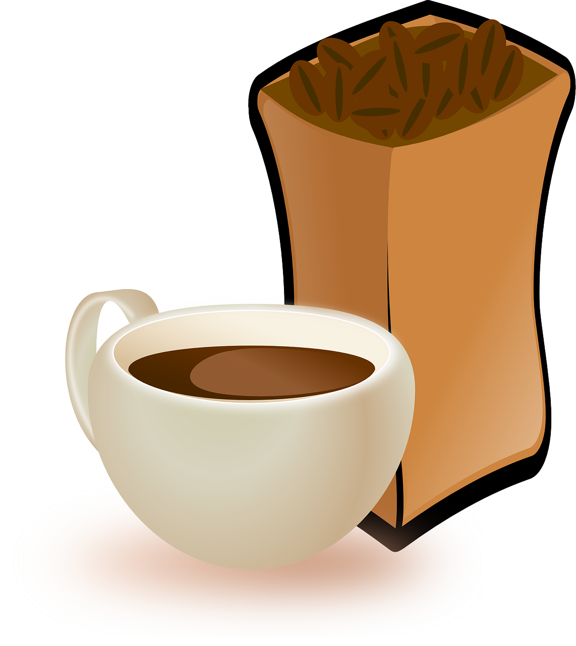 Food clipart cafe. Cup coffee beans drink