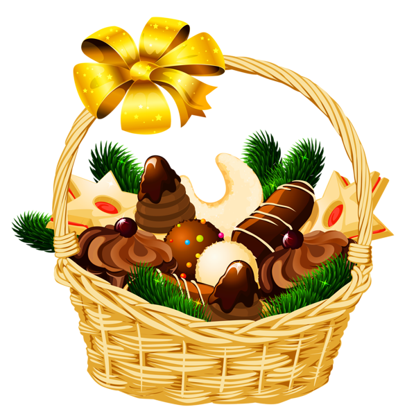 Holiday basket png picture. Food clipart christmas