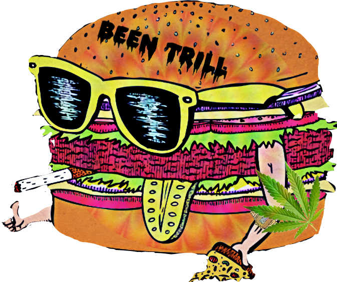 Trill trippy sticker by. Food clipart collage