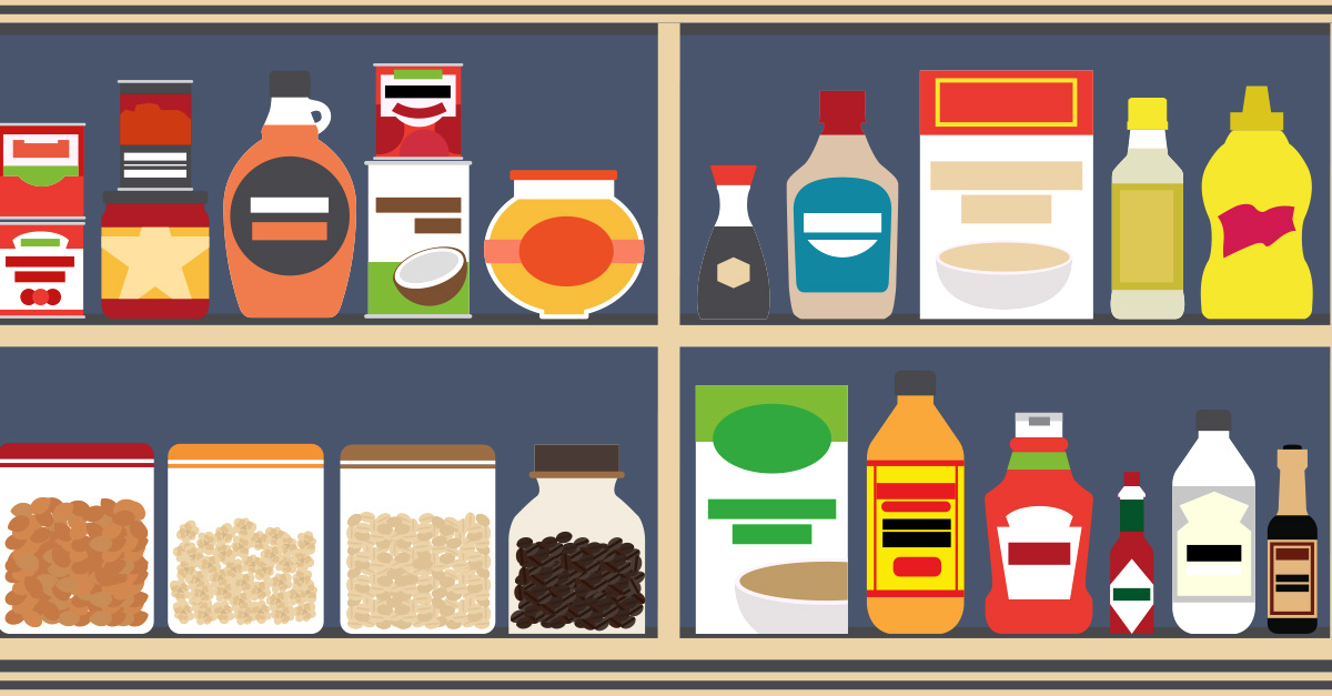 Food clipart cupboard. How to stock a