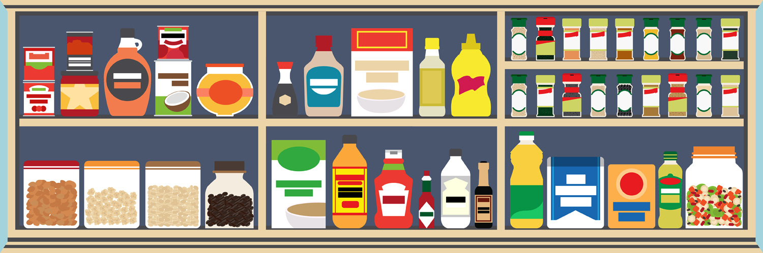 How to stock a. Food clipart cupboard