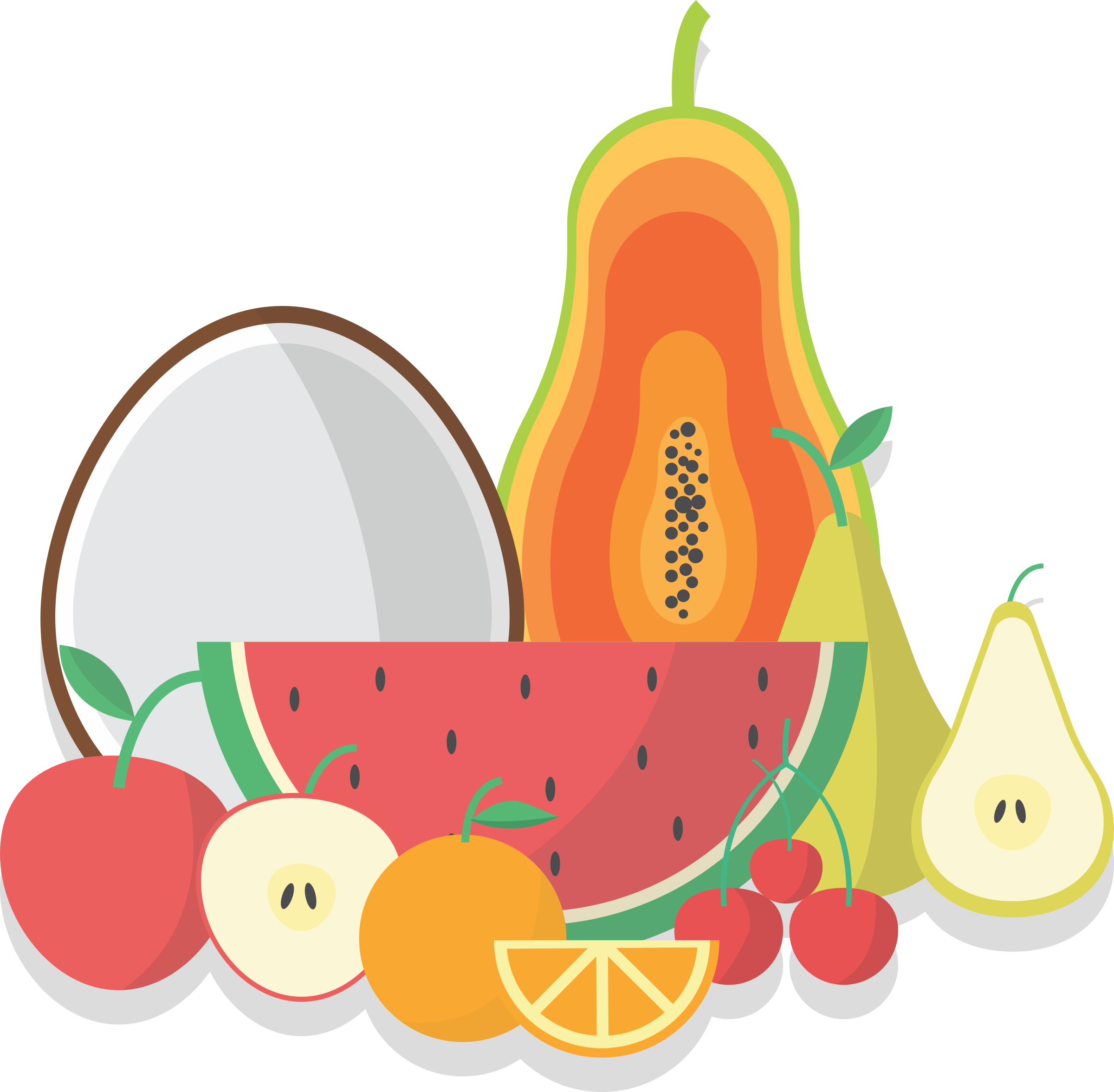 Collection big image png. Food clipart fruit