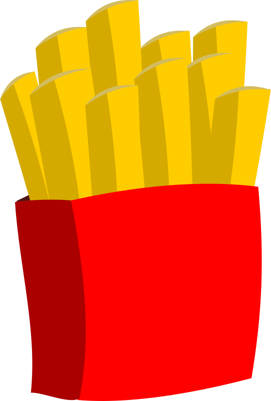 Hot chips medium image. Food clipart glove