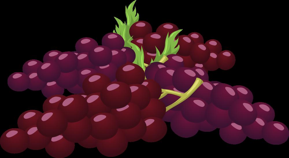 Grapes clipart violet. Onlinelabels clip art food