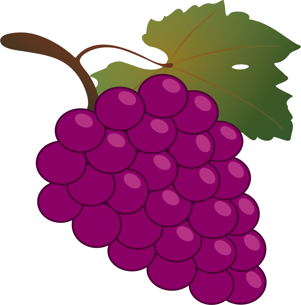 File bunch of grapes. Food clipart grape