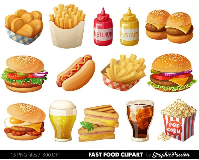 Fast clip art vector. Food clipart hamburger