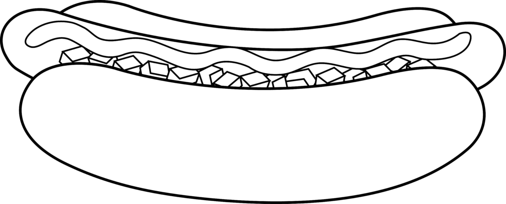 Hotdog clipart outline.  hot dogs fast