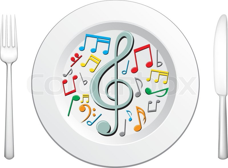 Foods clipart music. And food