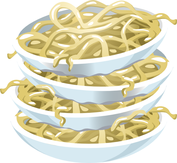 Plain clip art at. Noodles clipart fried noodle