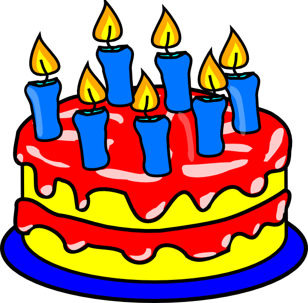 The bday clip art. Food clipart party