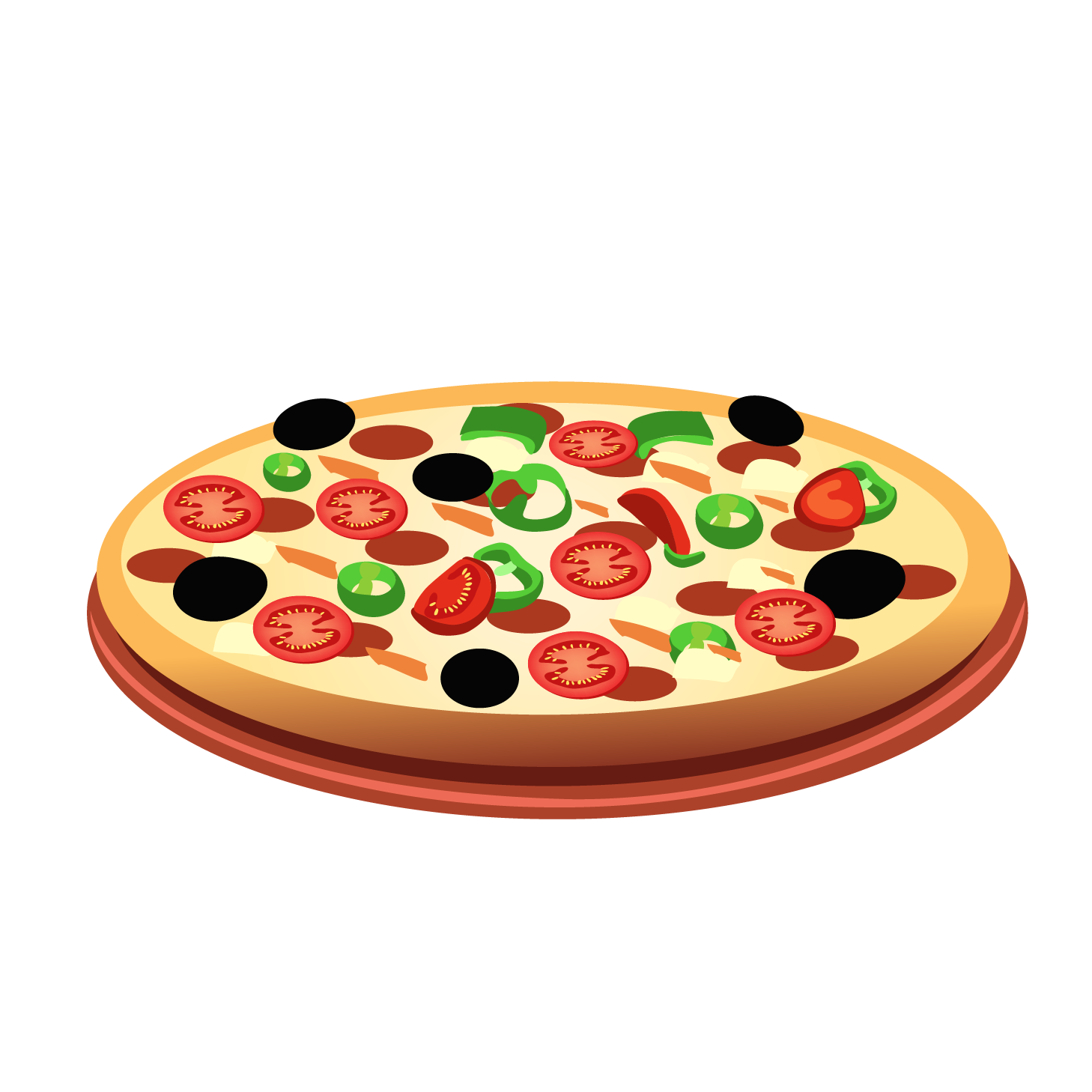 Italian cuisine spaghetti with. Food clipart pizza