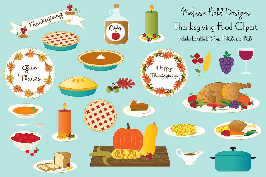 Food clipart thanksgiving. Making the web com