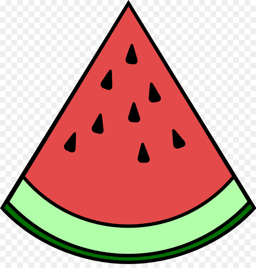 Cartoon food . Watermelon clipart triangle