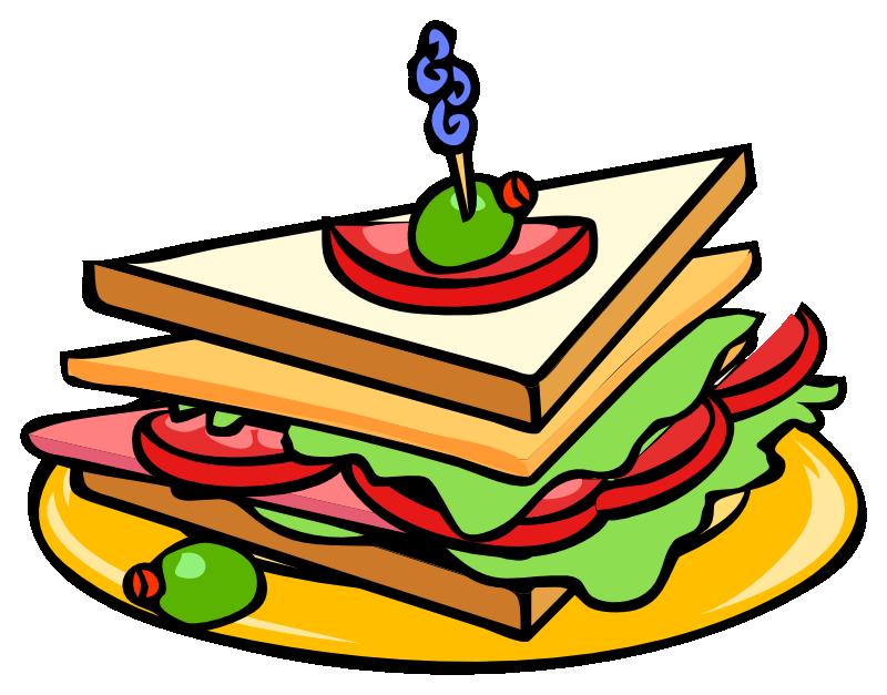 triangular clipart half sandwich