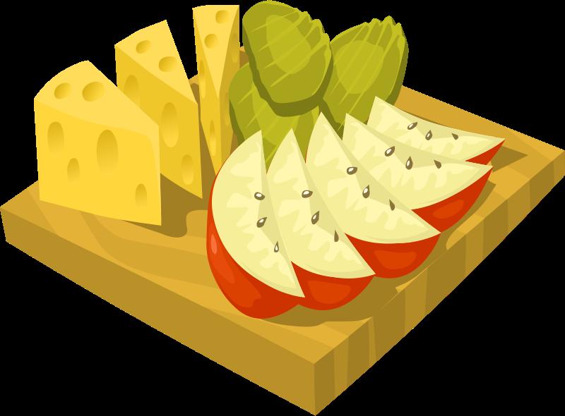 Food clipart vector. Snack apple clip art