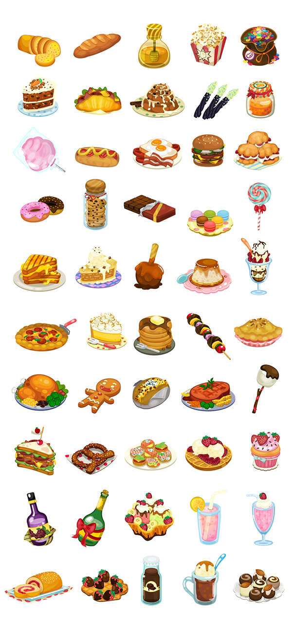 Food clipart watercolor. Enjoy these delicious created