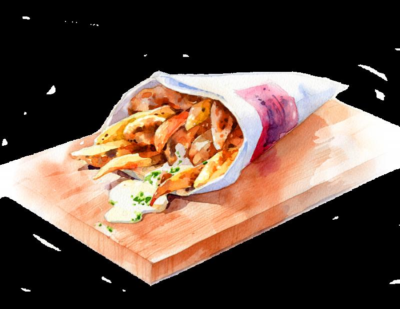 Kartoffelwedges illustration pinterest illustrations. Food clipart watercolor