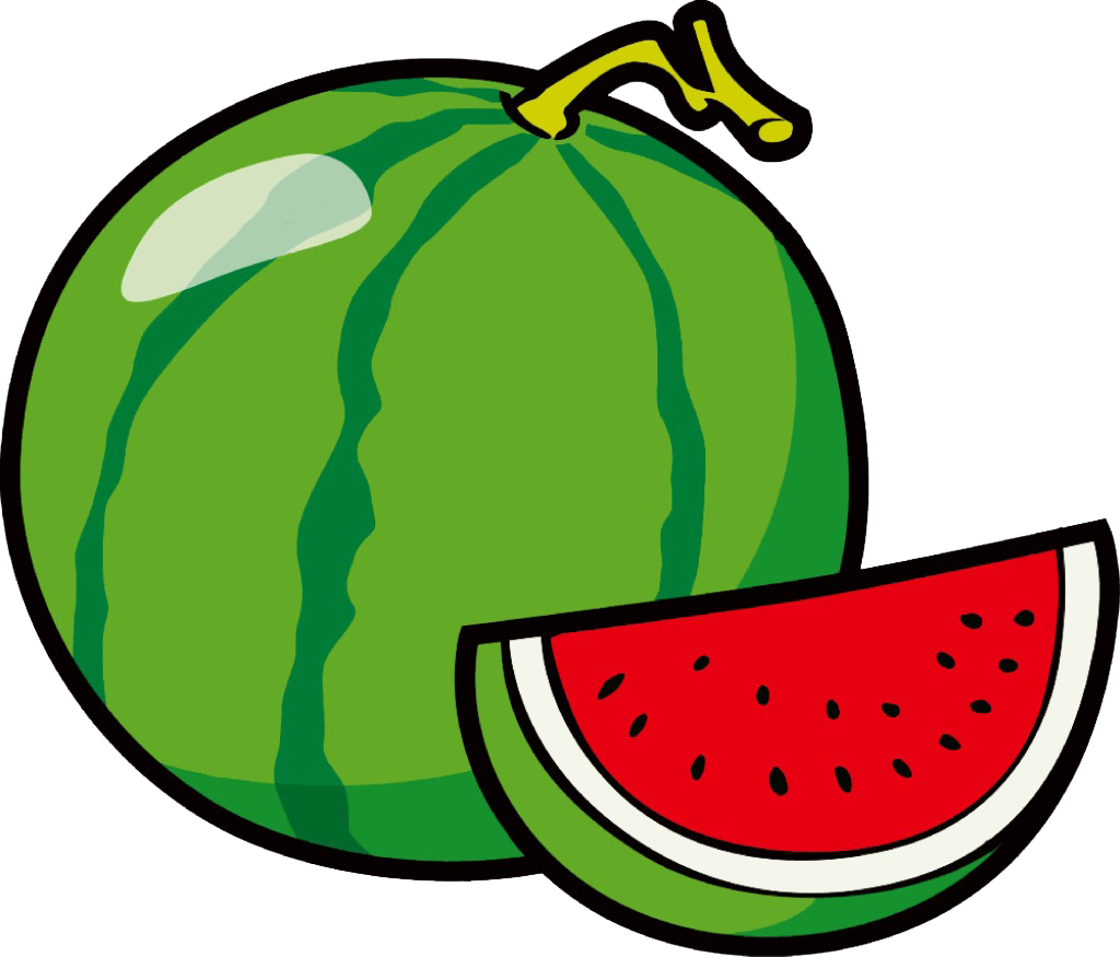 Watermelon clipart green fruit vegetable. Coloring book clip art