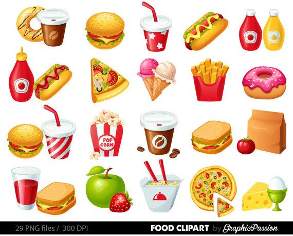 Clipart food. Fast hamburger clip art