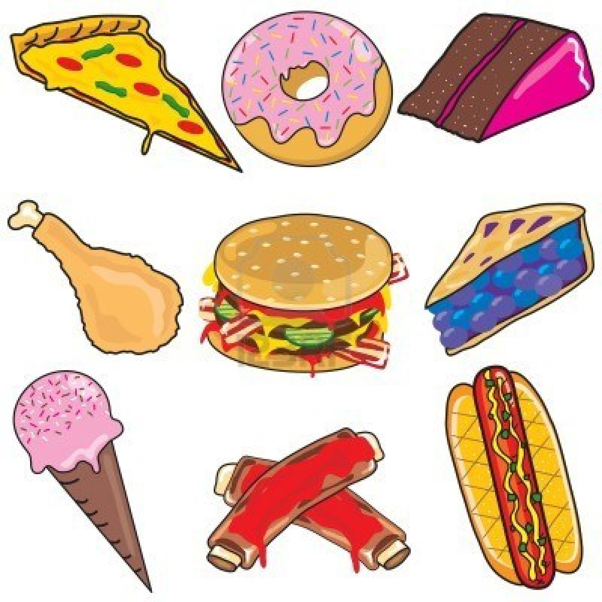 Food clip art kids. Foods clipart