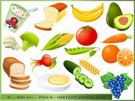Foods clipart. Food digital clip art