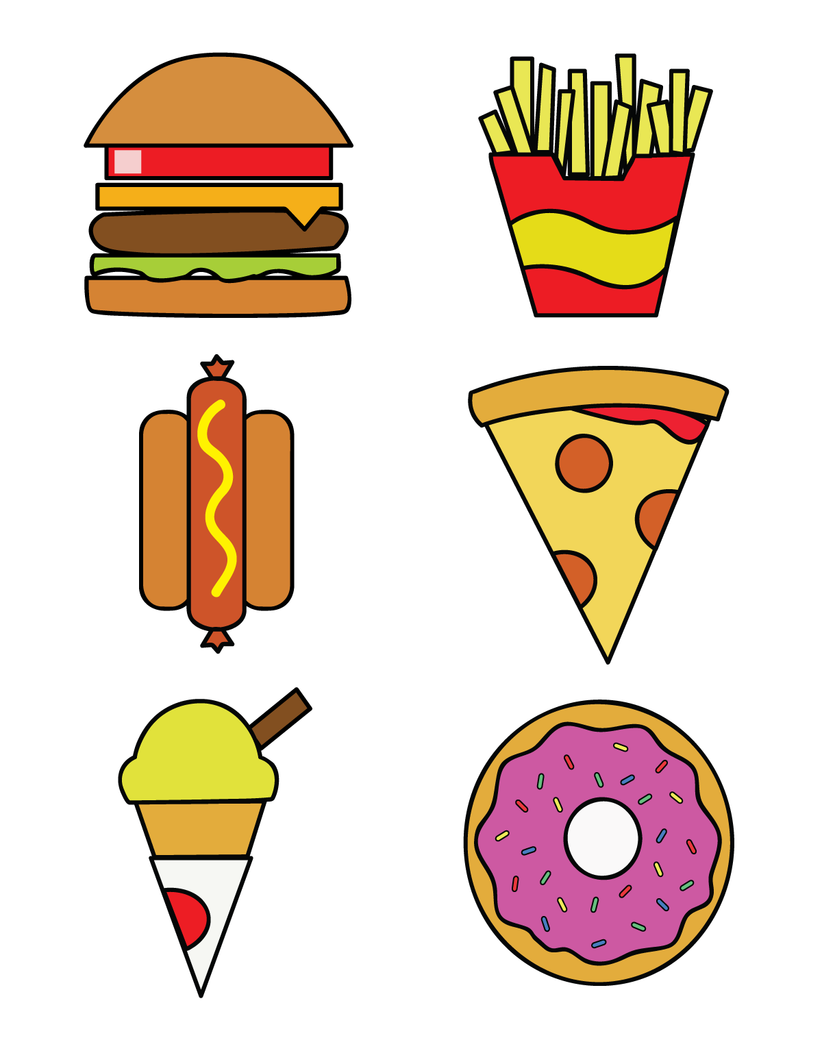 Foods clipart adorable. Free food graphics group