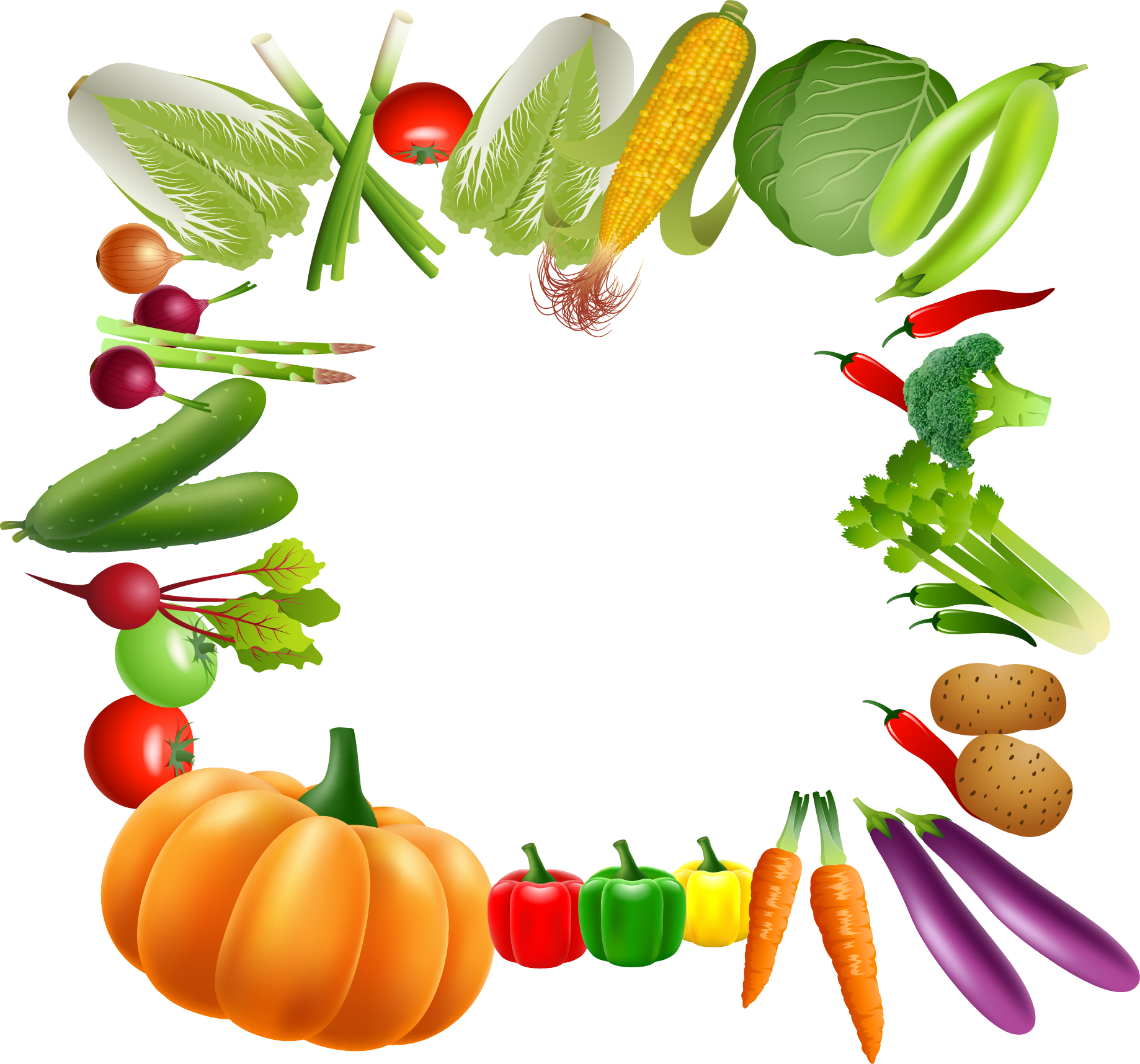 Vegetable vegetarian cuisine fruit. Fruits clipart borders