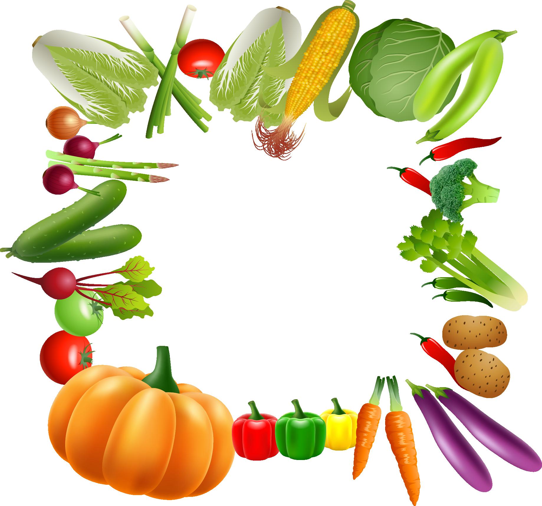 frame clipart vegetable