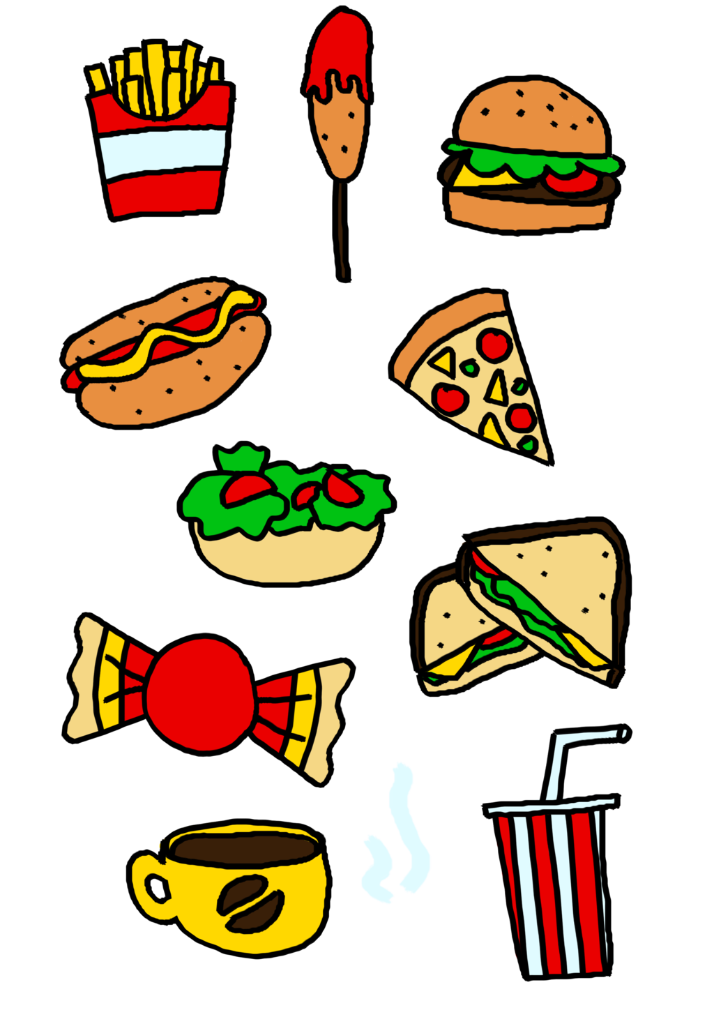 Food by elliejoy on. Foods clipart cartoon