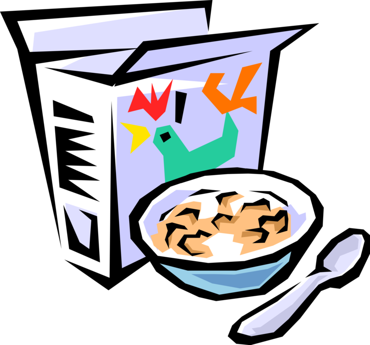 With bowl and spoon. Foods clipart cereal