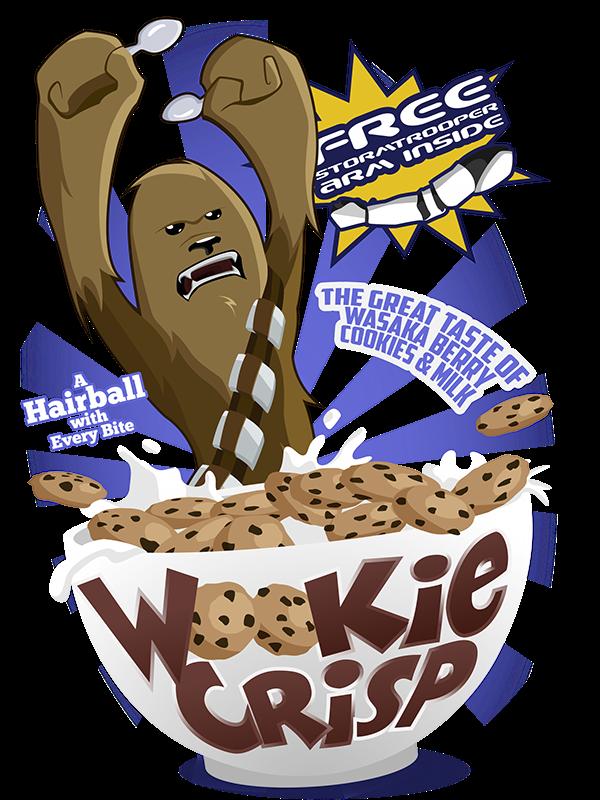Wookie crisp on behance. Foods clipart cereal