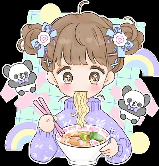 Cute kawaii fancysurprise anime. Foods clipart collage