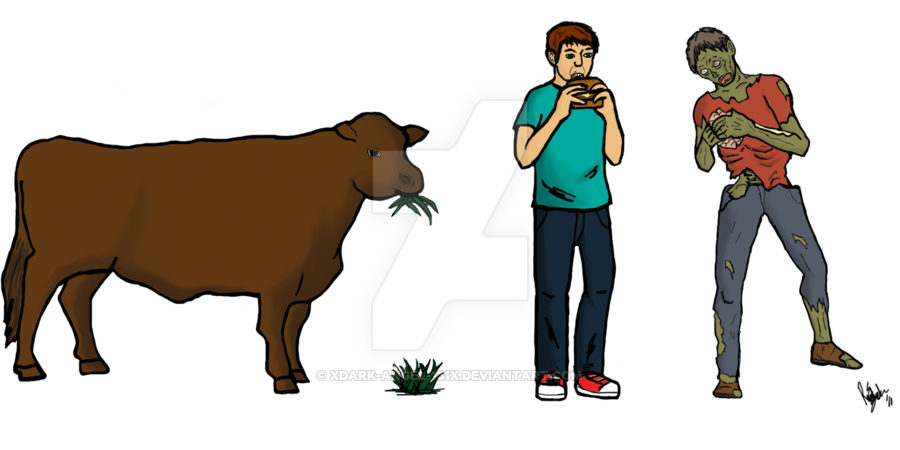 Human clipart human chain. Zombie food by xdark