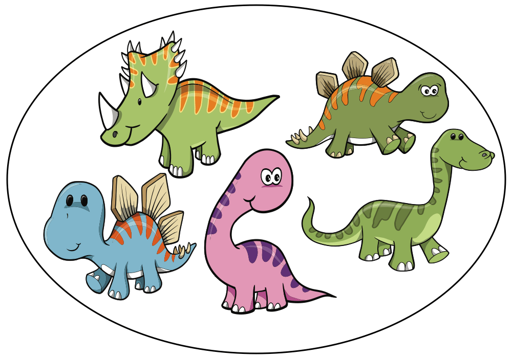 Audio book five little. Foods clipart dinosaur