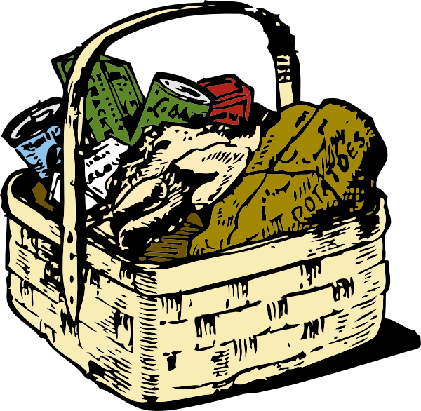 Baskets of food gallery. Foods clipart drive