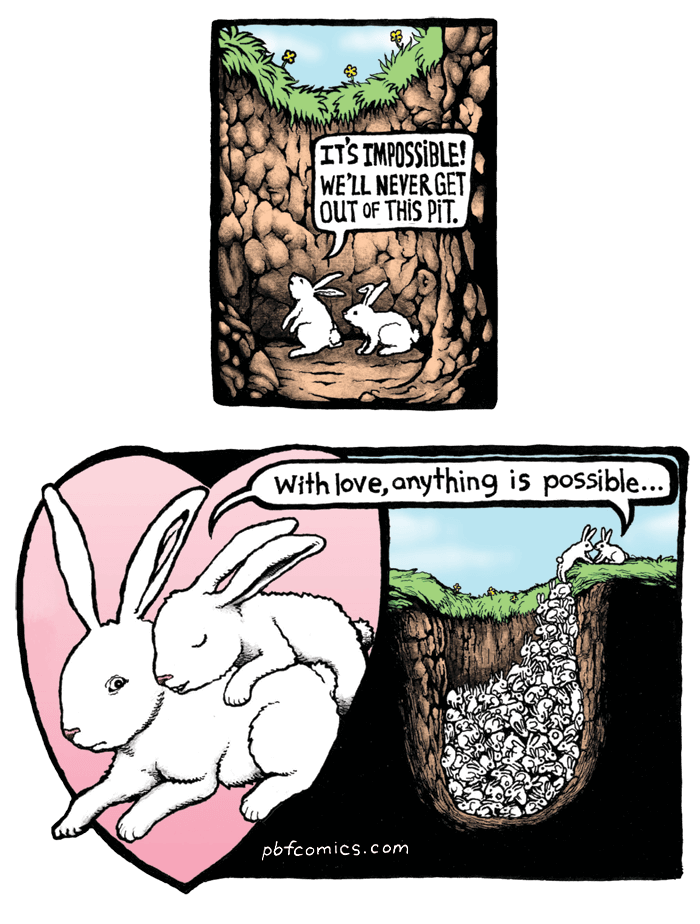 Hole clipart comic. Bunny pit the perry