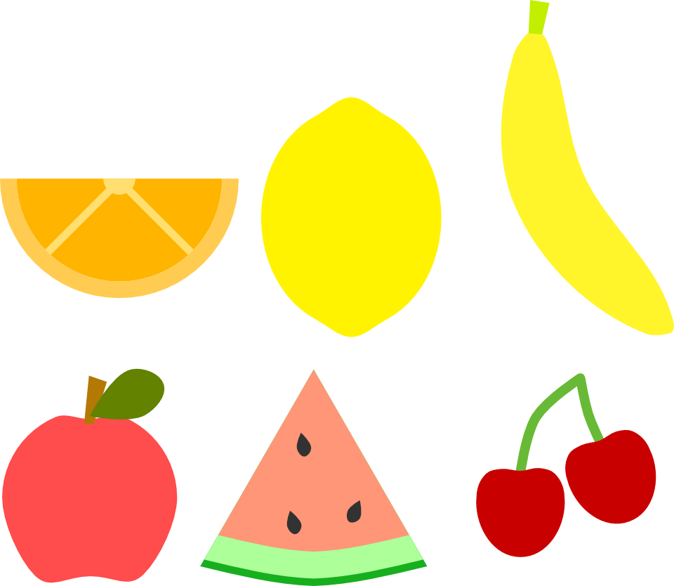 Foods clipart minimalist. Simple fruits opengameart org
