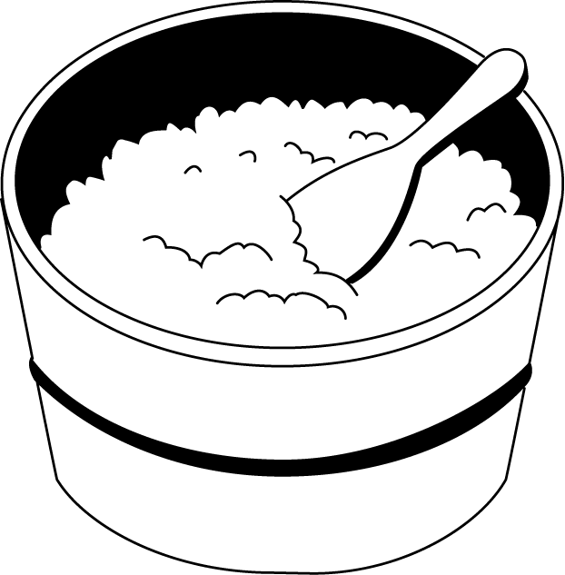 collection of black. Foods clipart rice