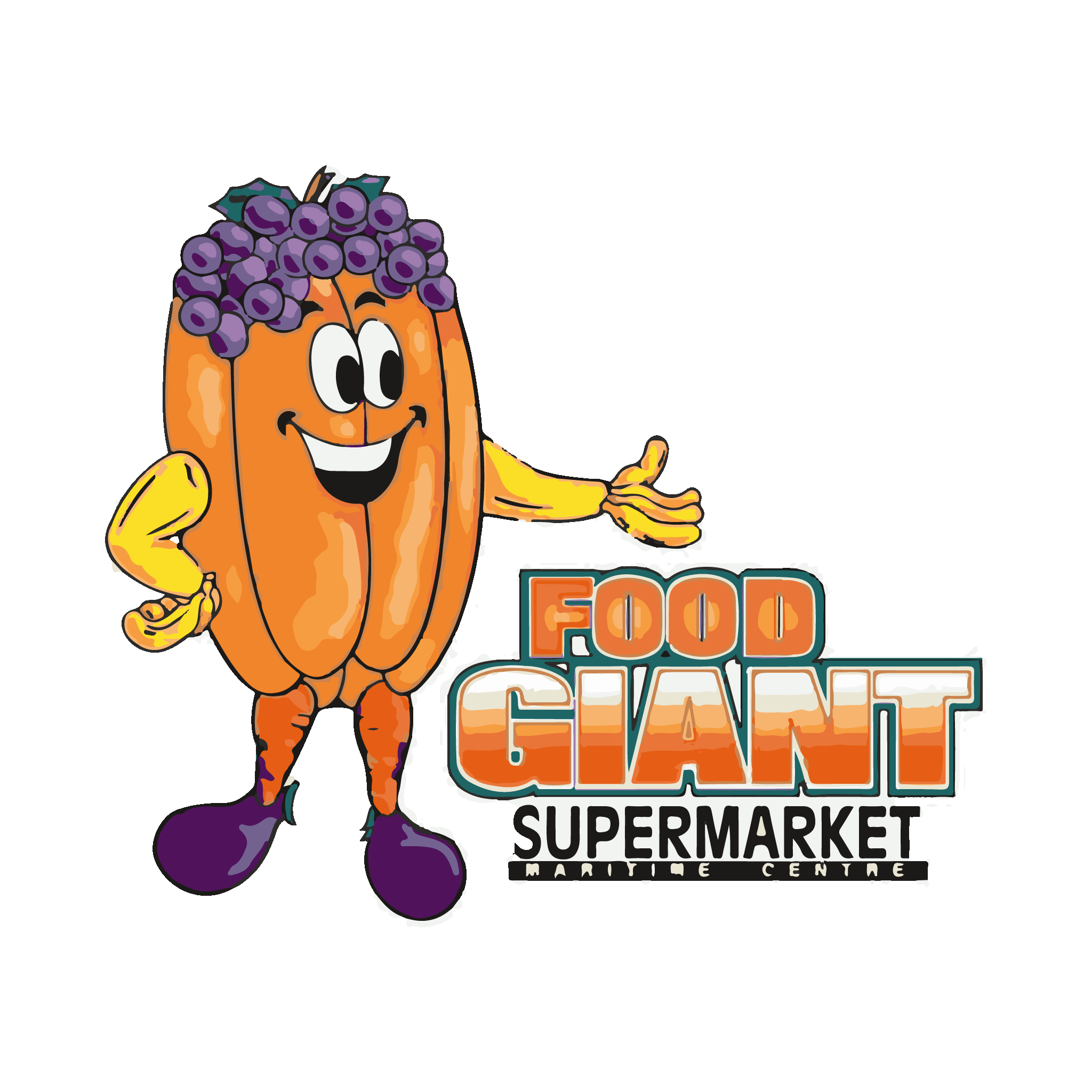 Food giant the maritime. Grocery clipart cafe building