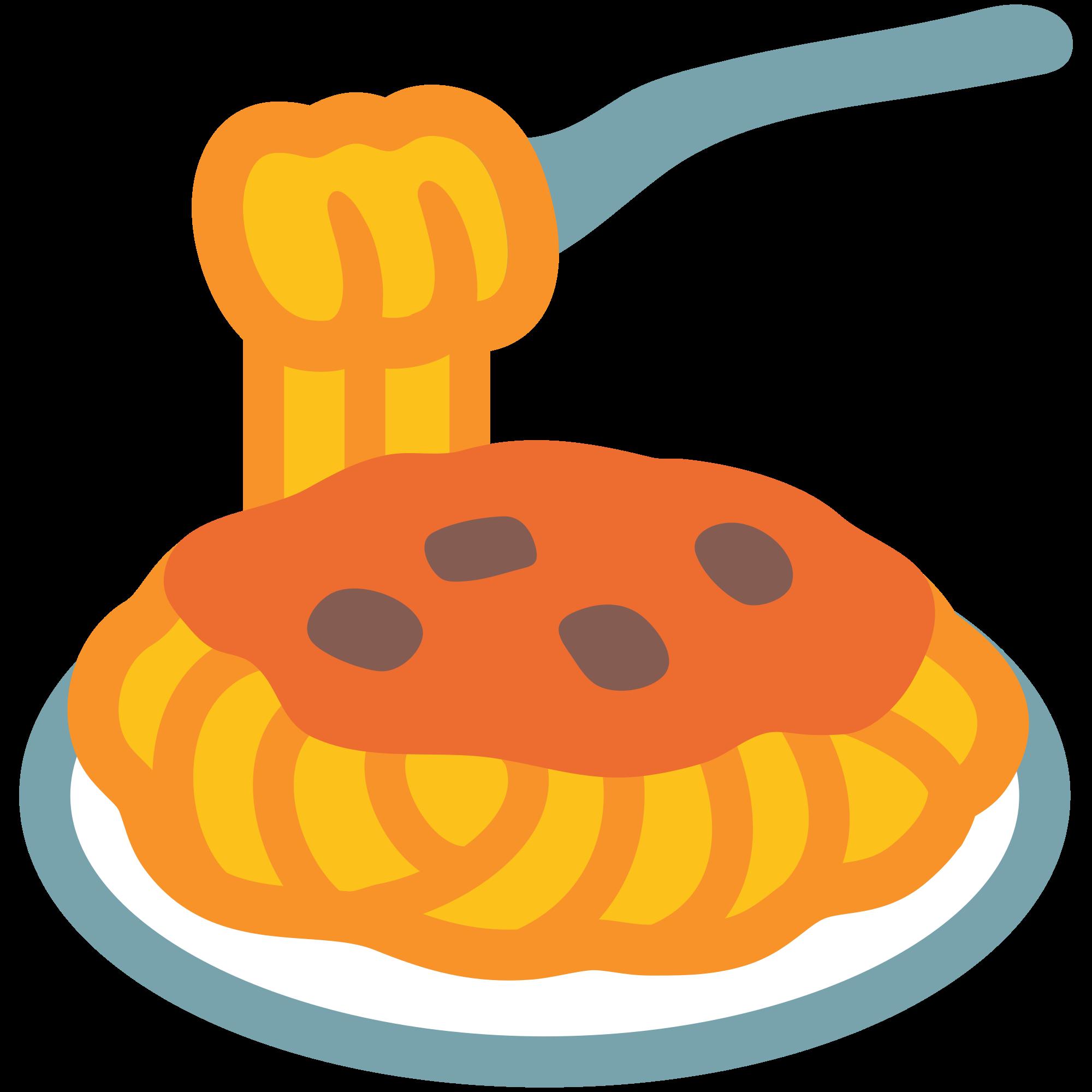 Foods clipart spaghetti. File emoji u f
