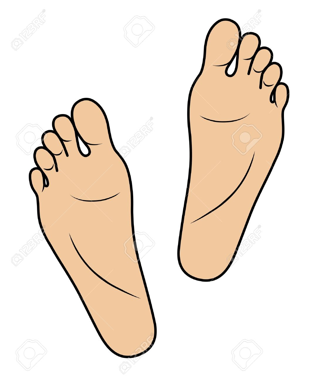 Sole . Foot clipart