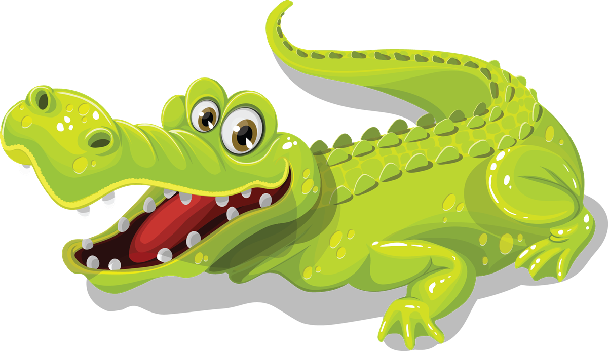 Black and white images. Foot clipart alligator