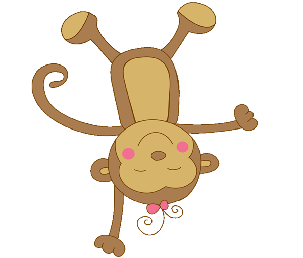 Monkey gallery by david. Foot clipart baby girl