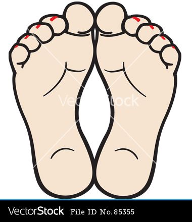 foot clipart bare foot